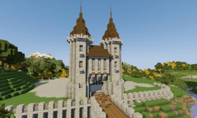 How To Build A Castle Minecraft Tutorial | Medieval Castle Part 1