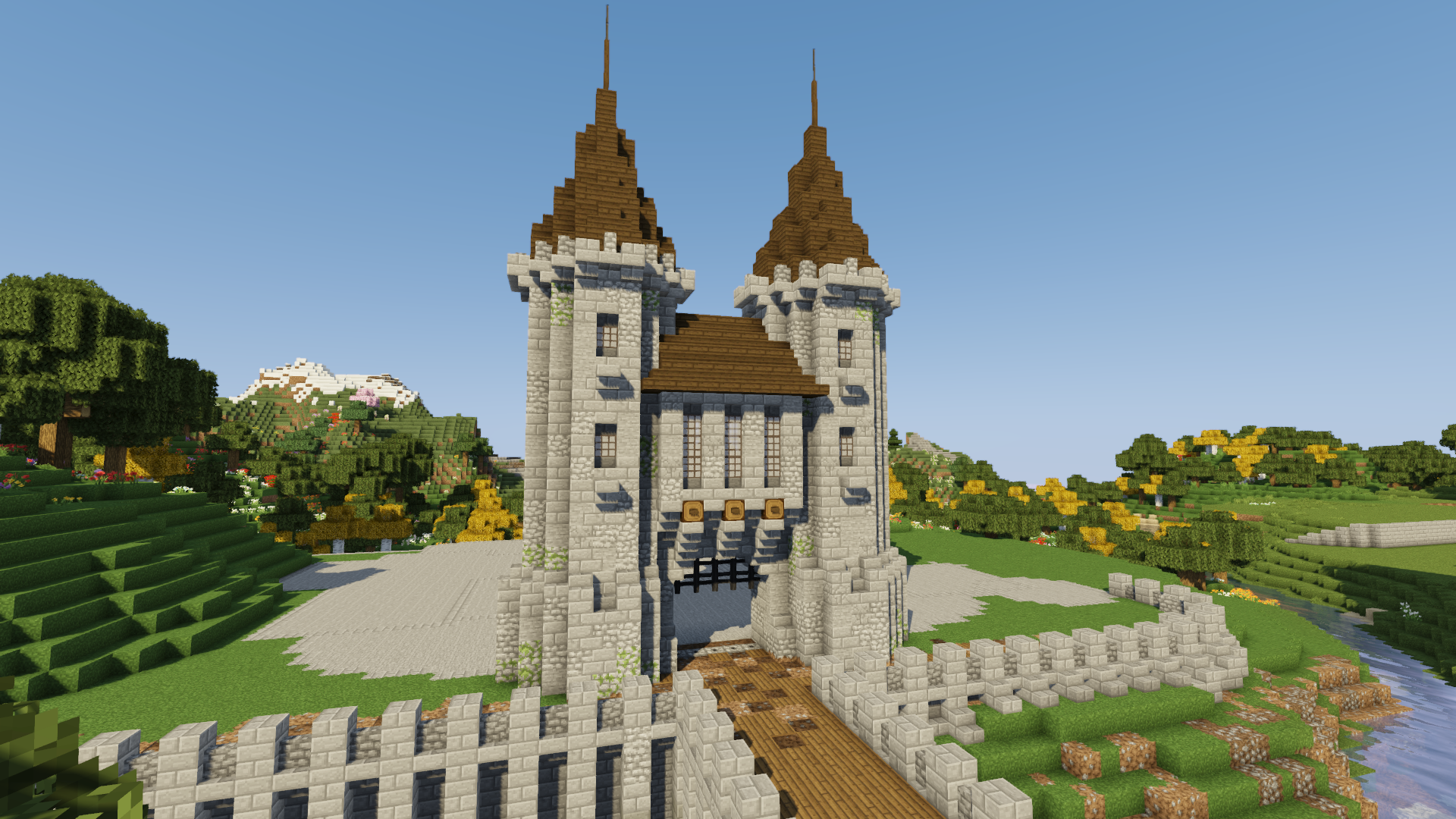 How To Build A Castle Minecraft Tutorial Medieval Castle Part 1