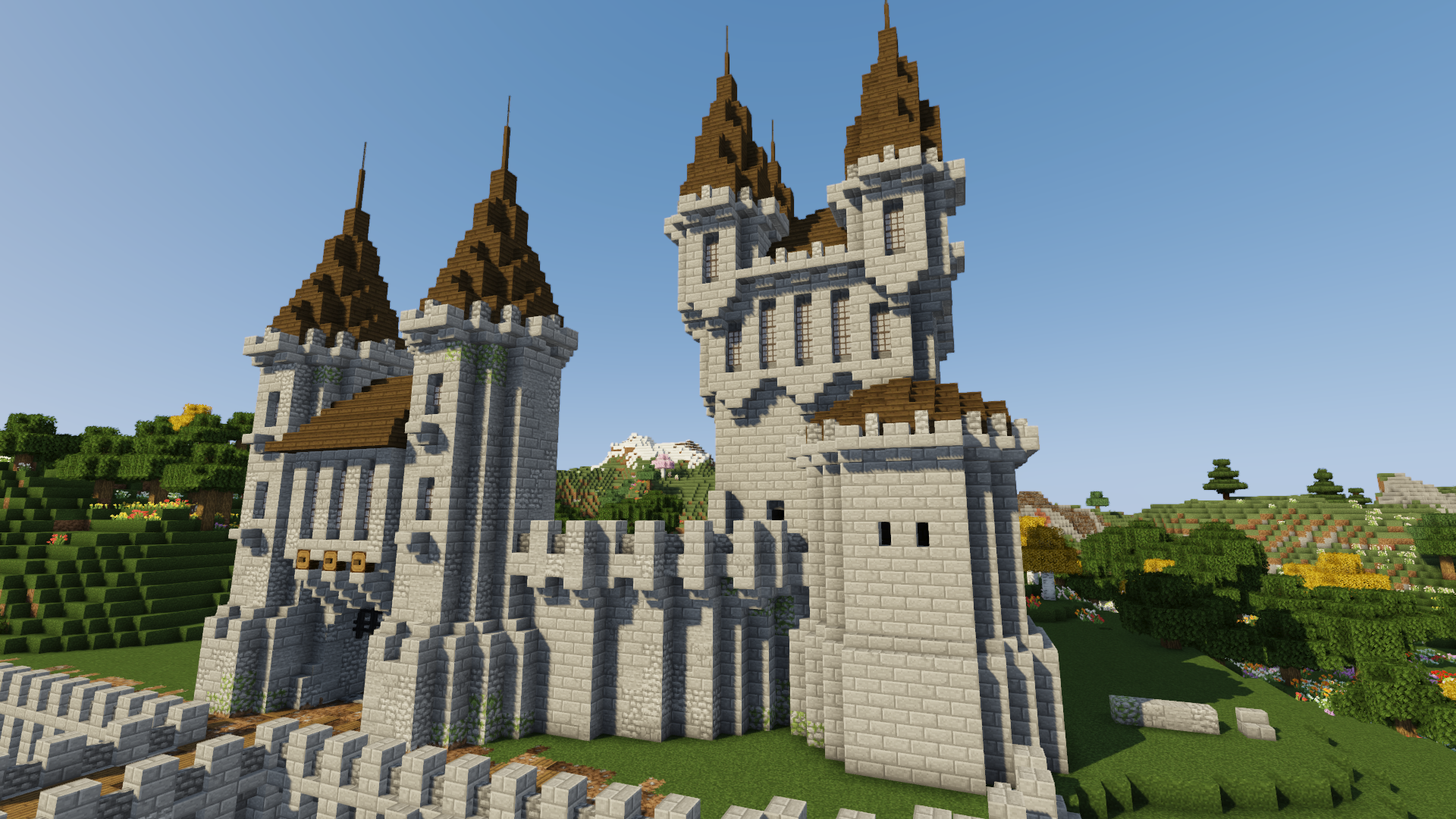 How To Build A Castle Minecraft Tutorial Medieval Castle Part 2