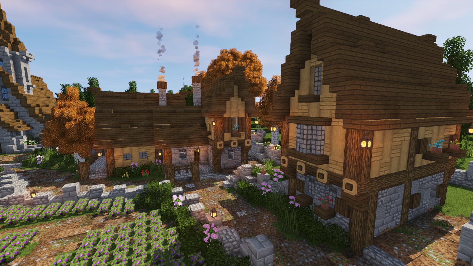 Minecraft Village Transformation Timelapse Speed Build Part 6 Bluenerd