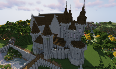 How To Build A Castle Minecraft Tutorial | Medieval Castle Part 4