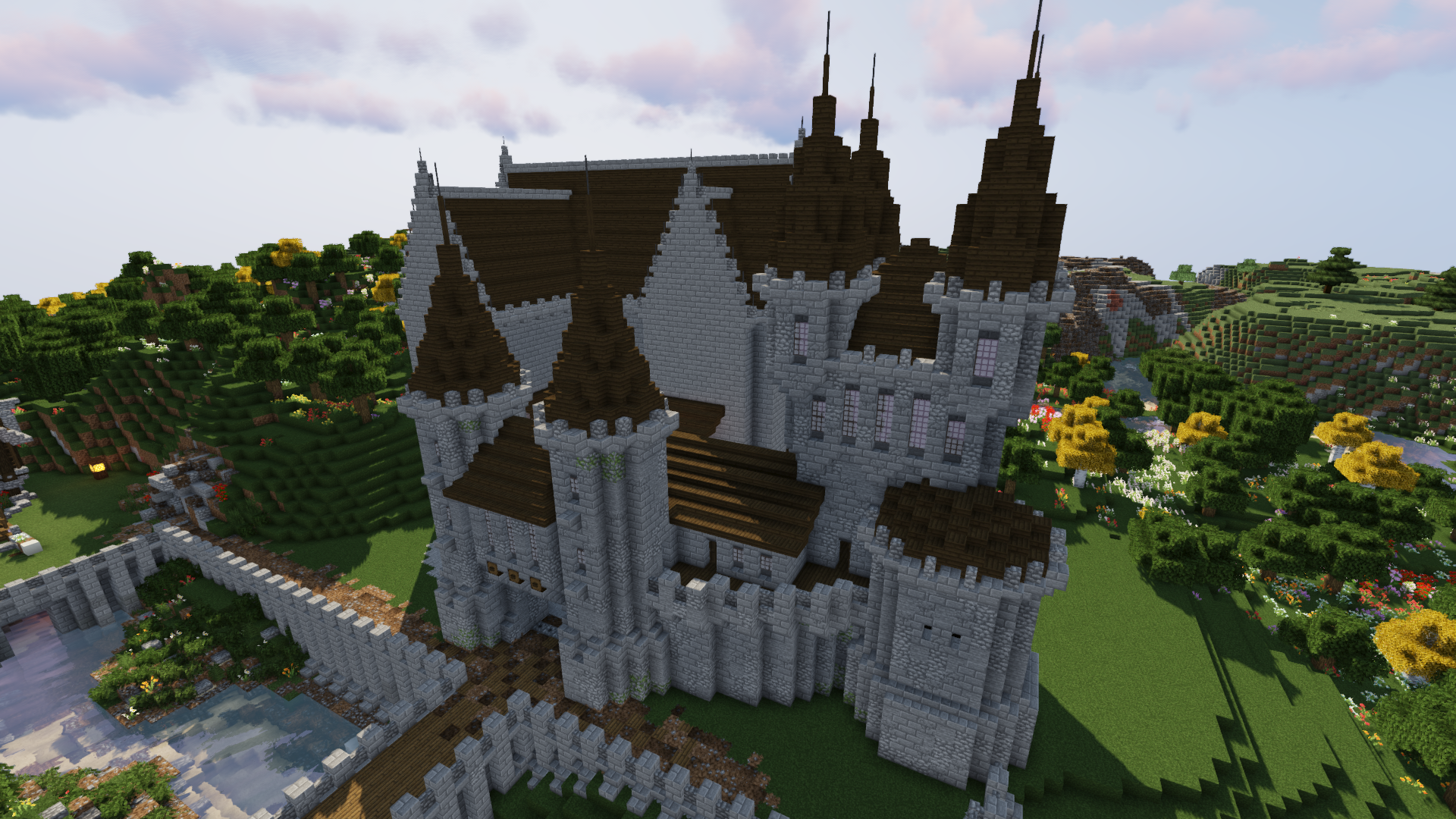 How To Build A Castle Minecraft Tutorial Medieval Castle Part 4