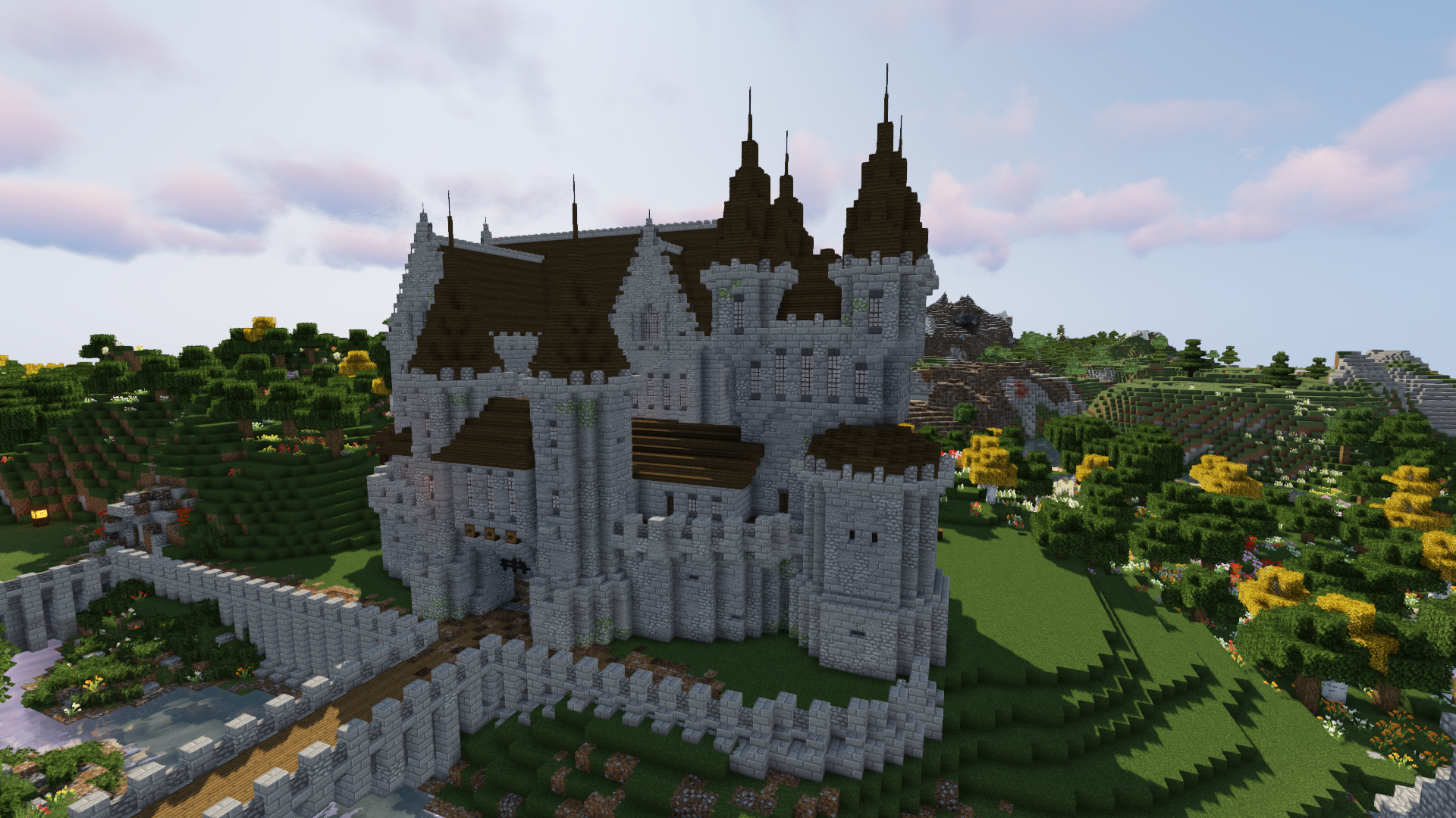 How To Build A Castle Minecraft Tutorial Medieval Castle Part 5