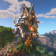 Minecraft Timelapse | Epic Steampunk House on a Floating Island