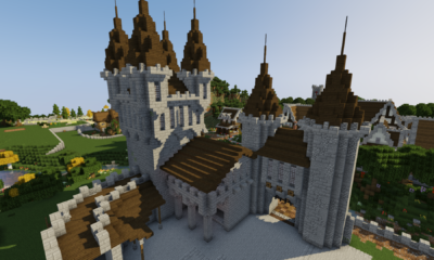 How To Build A Castle Minecraft Tutorial | Medieval Castle Part 3