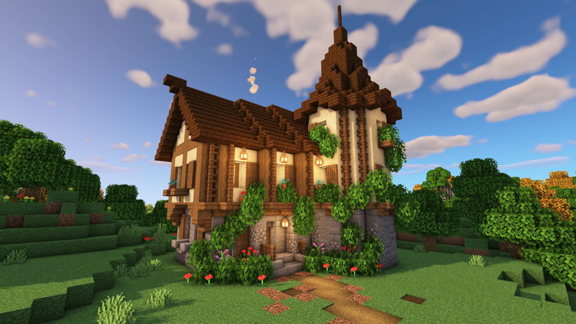 Minecraft: How to Build a Medieval House  Easy Medieval House